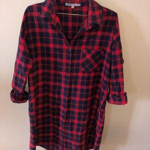 Plaid dress with pockets